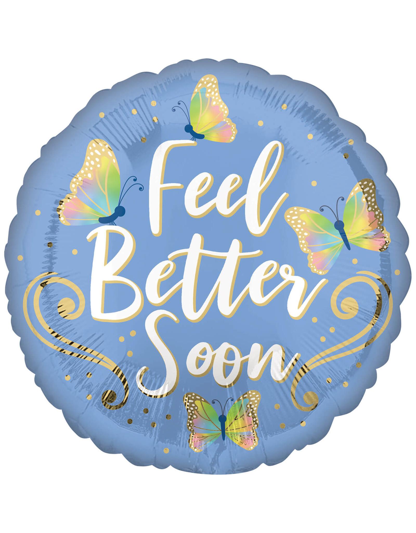 Amscan folieballon feel better butterflies 43 cm