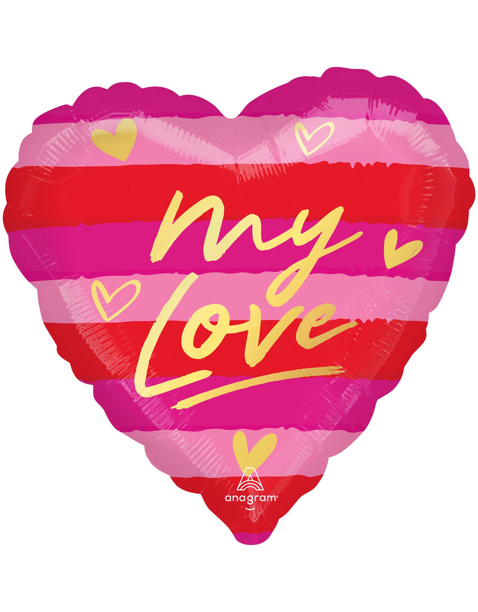 Amscan folieballon hart my love 43 cm