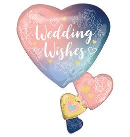 Amscan folieballon supershape wedding wishes 58 x 76 cm