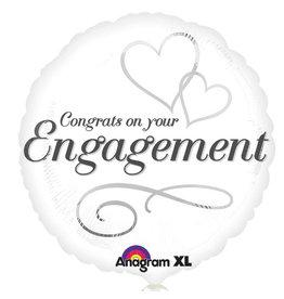 Amscan folieballon congrats on your engagement 43 cm
