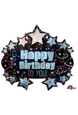 Amscan folieballon Ultrashape happy birthday to you! 78 x 71 cm