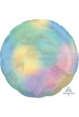 Amscan folieballon rond pastel holographic regenboog 43 cm