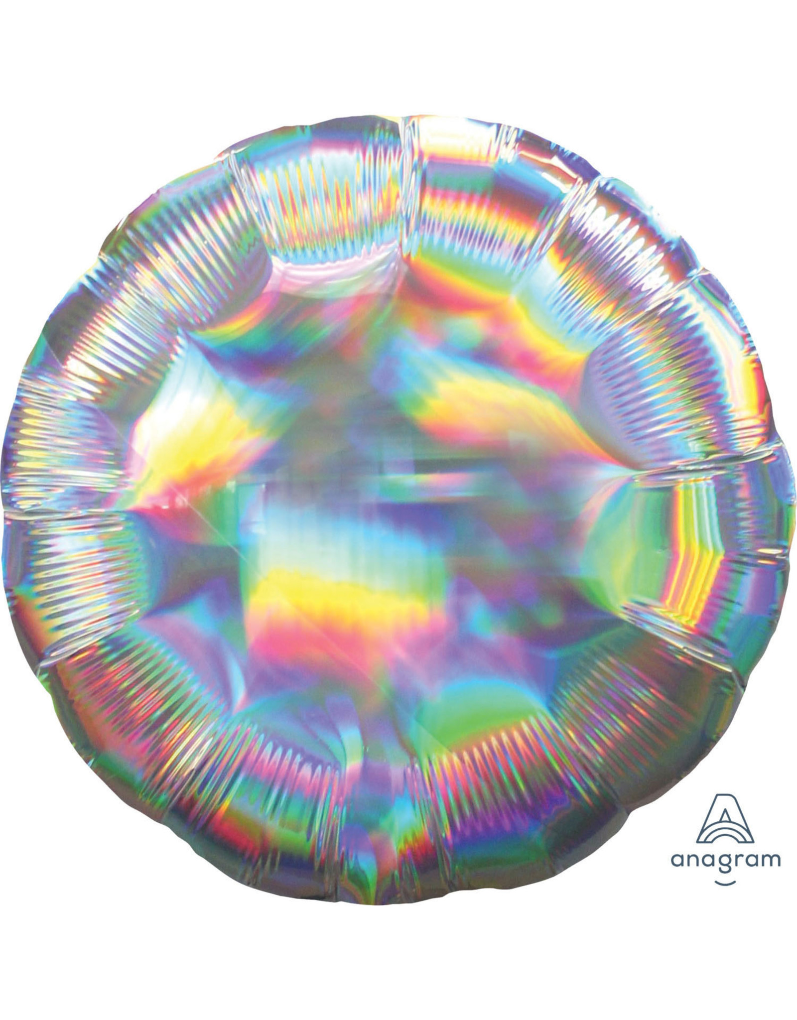Amscan folieballon rond iridescent 43 cm