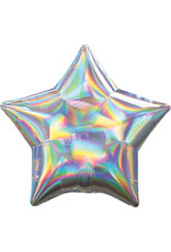 Amscan folieballon ster iridescent 48 cm