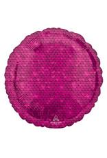 Amscan folieballon rond roze sequins 43 cm