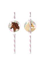 Amscan beautiful horses rietjes 8 stuks