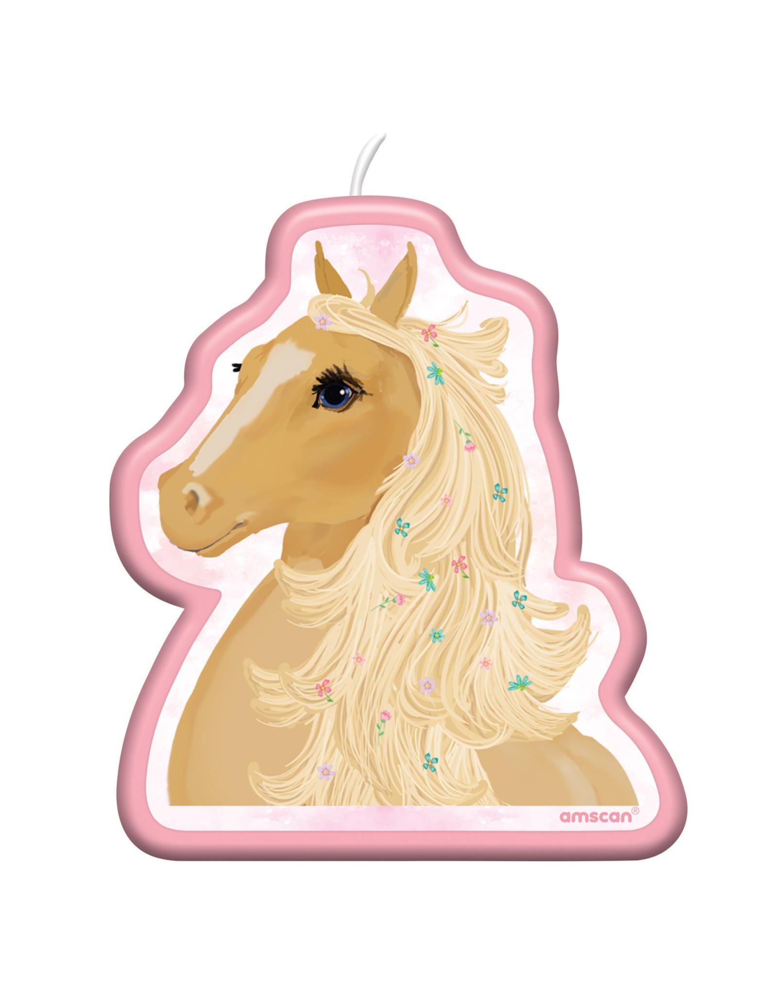 Amscan beautiful horses kaars 1 stuk