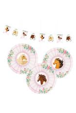 Amscan beautiful horses decoratie set 4-delig