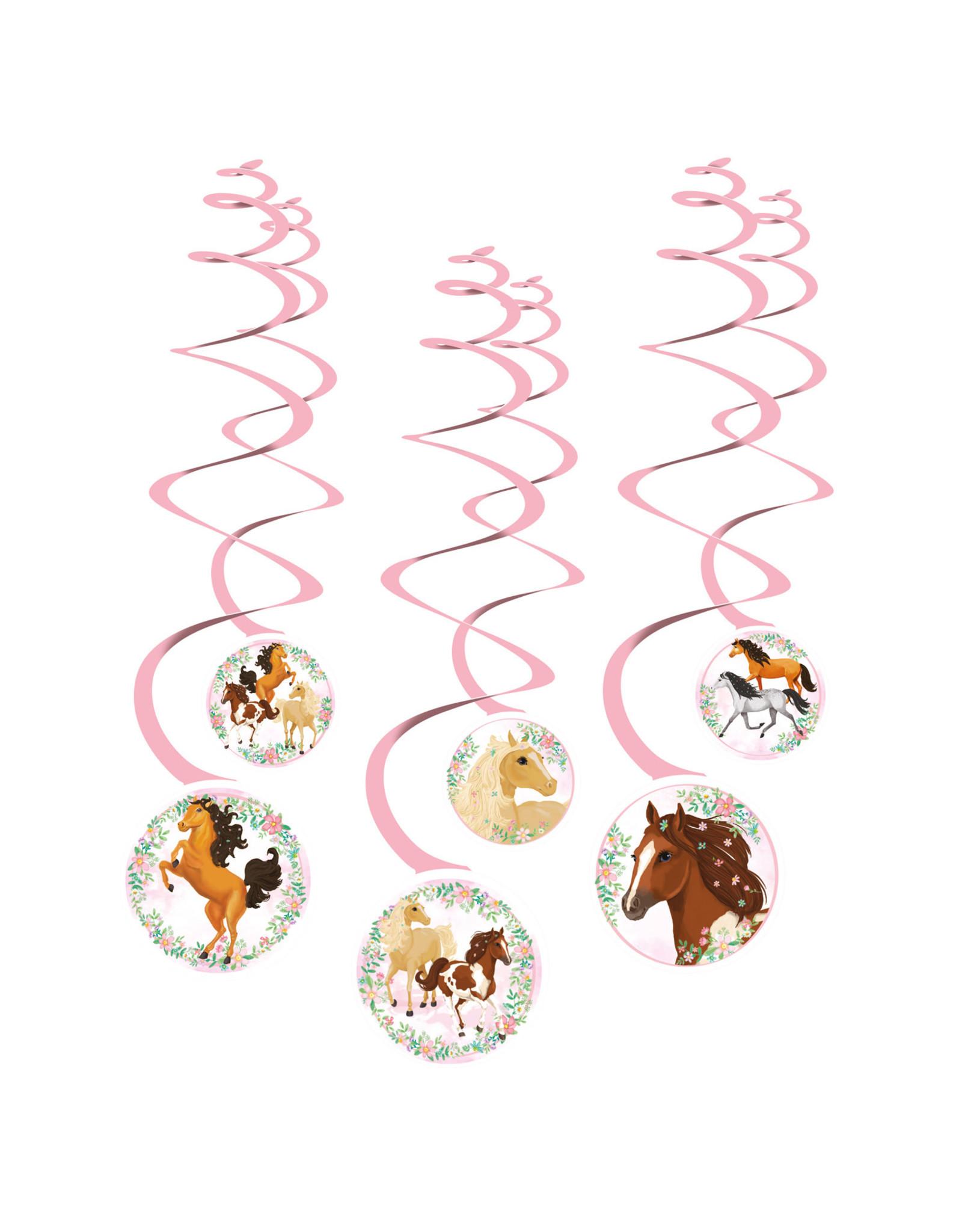 Amscan beautiful horses hangdecoratie 6-delig