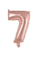 Amscan folieballon rose goud cijfer 7 40 cm