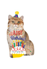 Amscan folieballon supershape happy birthday cat