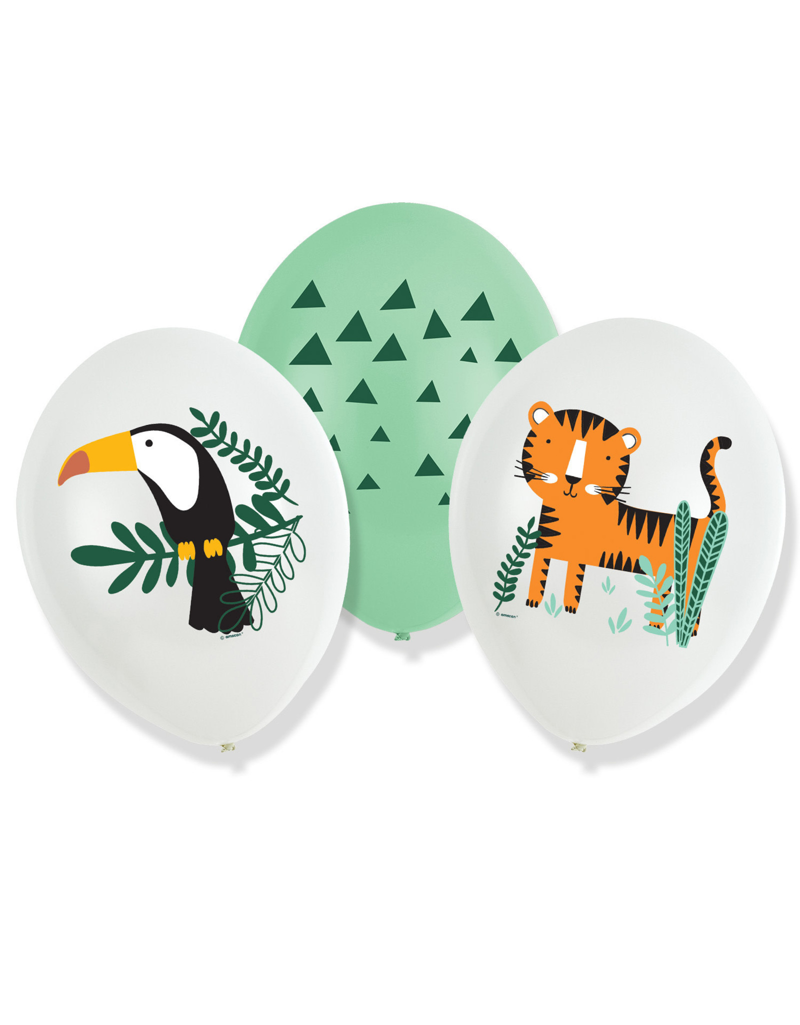 Amscan Get wild latex ballonnen 6 stuks