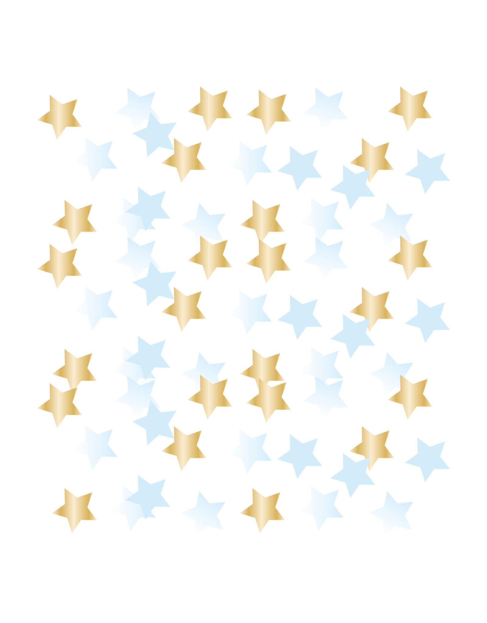 Amscan 1e verjaardag ster confetti blue/gold 14 gram