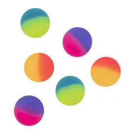 Boland uitdeelcadeautjes regenboog stuiterballen 6 stuks