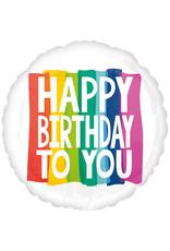Amscan folieballon supershape rainbow wishes happy birthday 71 cm
