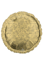 Amscan folieballon rond sequins goud 43 cm