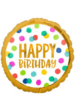 Amscan folieballon happy birthday dots 43 cm