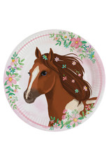 Amscan beautifull horses borden 23 cm 8 stuks