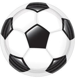 Amscan voetbal borden 23 cm 8 stuks