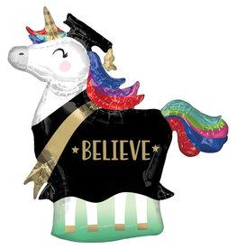 Amscan folieballon supershape grad unicorn 83 x 81 cm