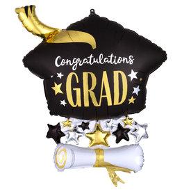 Amscan folieballon supershape congratulations Grad  58 x 63 cm