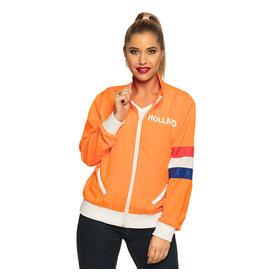 Boland trainingsjasje oranje Holland vrouw maat M
