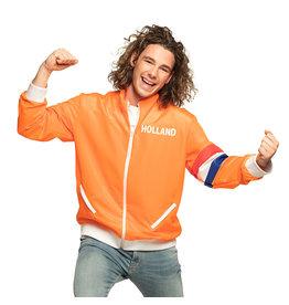 Boland trainingsjasje oranje Holland man maat XL