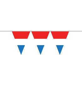 Vlaggenlijn rood/wit/blauw op 1 vlaggetje 10 meter