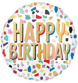 Amscan folieballon happy confetti birthday 43 cm