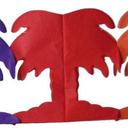 Papieren slinger palmboom multicolour 6 meter