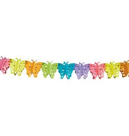 Papieren slinger vlinder 6 meter