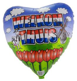 Folieballon welkom thuis 45 cm
