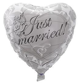 Folieballon just married 45 cm