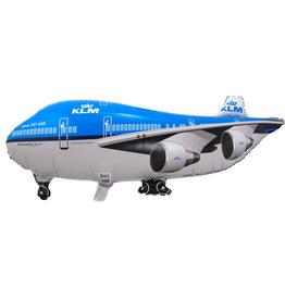 Folieballon supershape KLM vliegtuig 95 x 45 cm