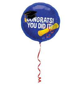 Folat folieballon congrats you did it! 45 cm