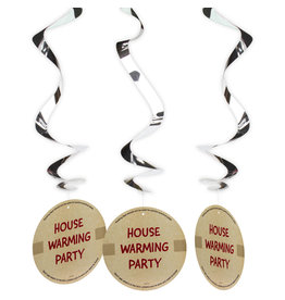 House warming party hangdecoratie 3-pack