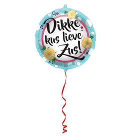 Folat folieballon dikke kus lieve zus 45 cm