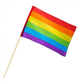 Zwaaivlag regenboog polyester
