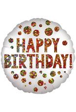 Amscan folieballon infused happy birthday 45 cm
