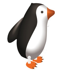Amscan walking balloon pinguin 47 x 57 cm