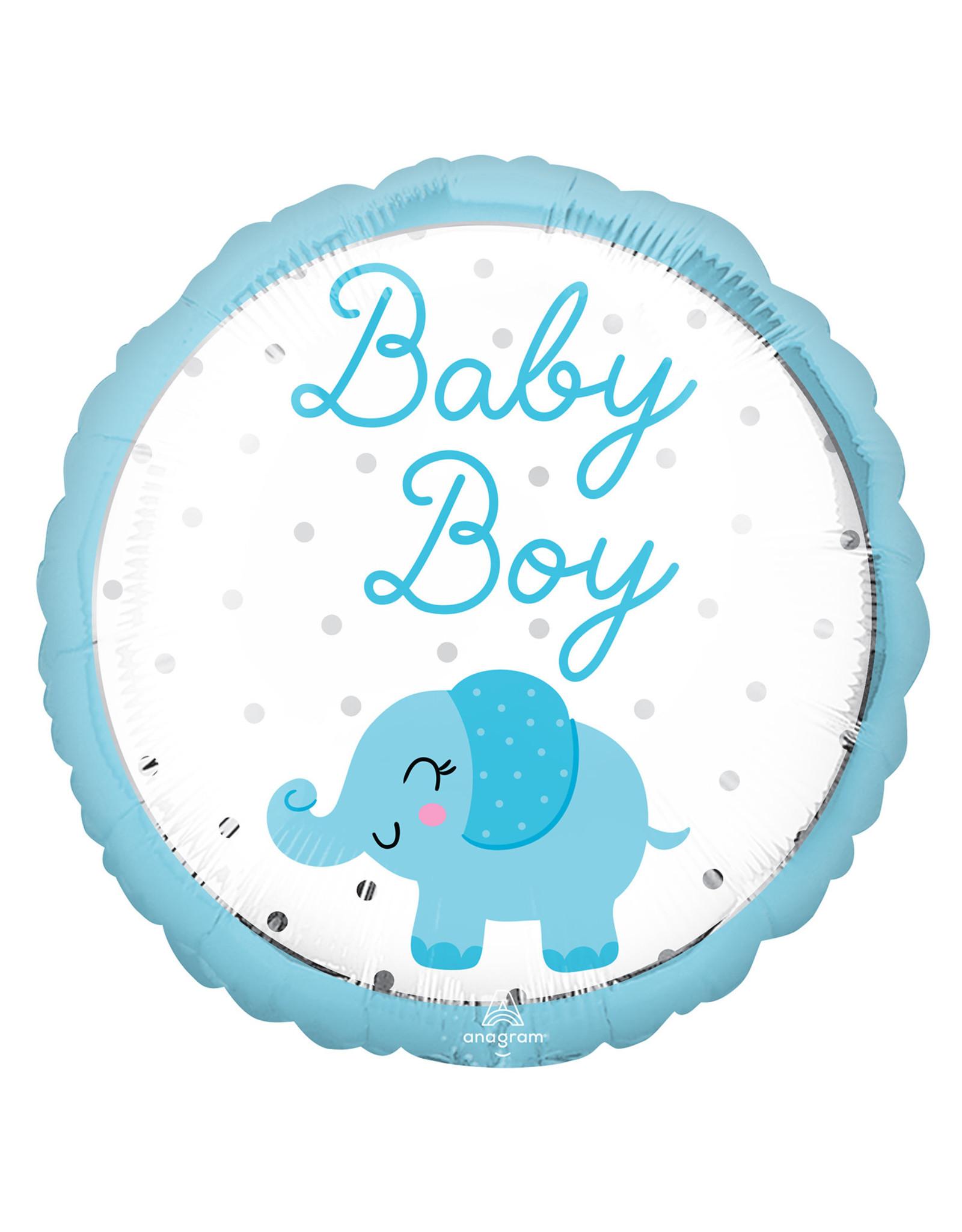 Amscan folieballon baby boy olifantje 43 cm
