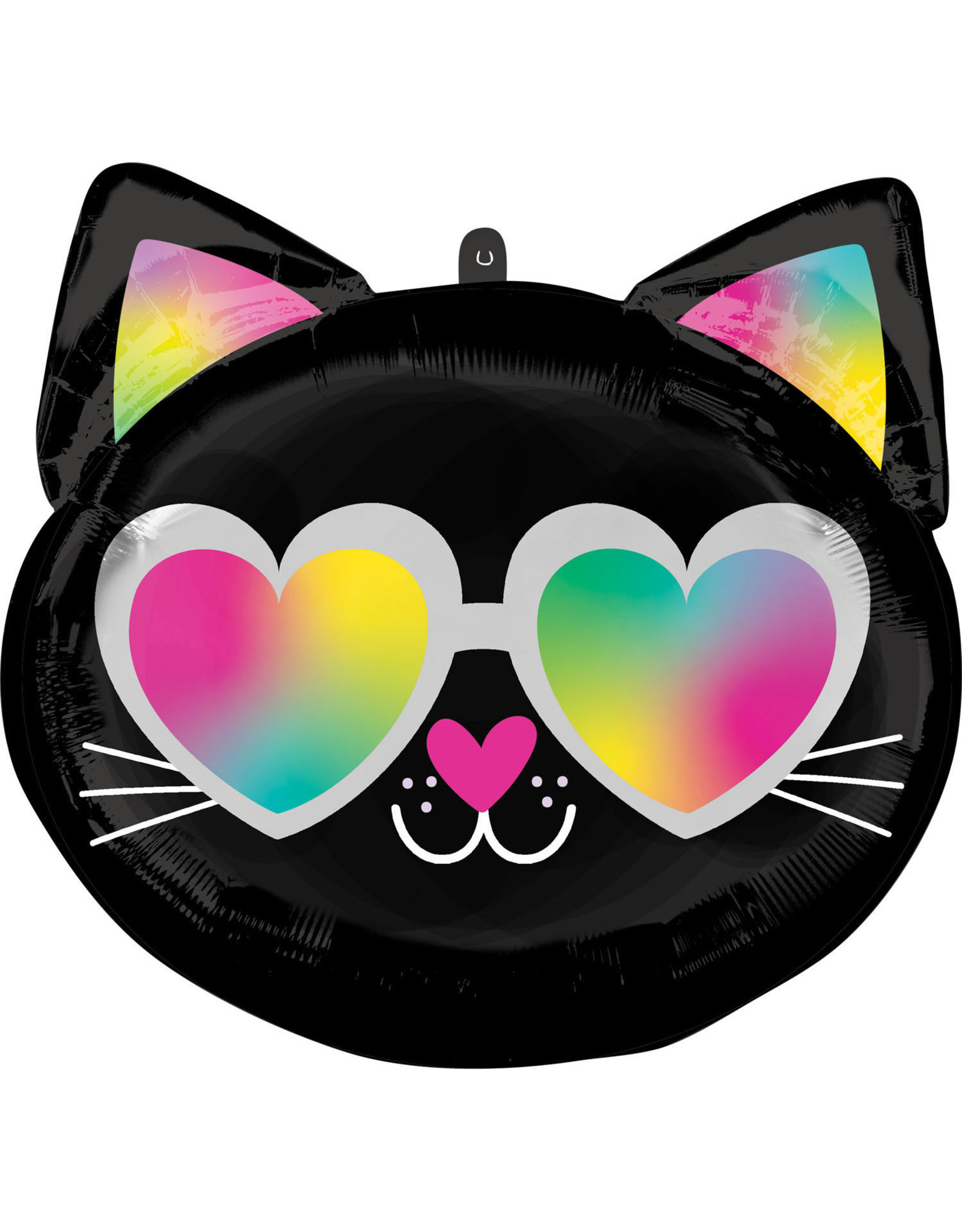 Amscan folieballon standard shape cool kitty 2-zijdig 43 cm x 43 cm