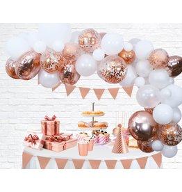 Ballonnenboogset DIY Rose goud/wit 4 meter