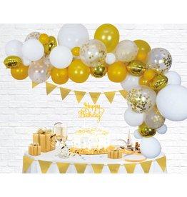 Ballonnenboogset DIY goud/wit 4 meter