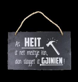 Leisteen bord Fries Heit