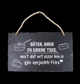 Leisteen bord Fries Buter Brea en griene tsiis