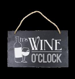 Leisteen bord Wine o'clock