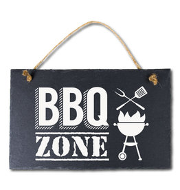 Leisteen bord BBQ zone