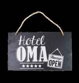 Leisteen bord Hotel Oma