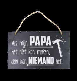 Leisteen bord Papa